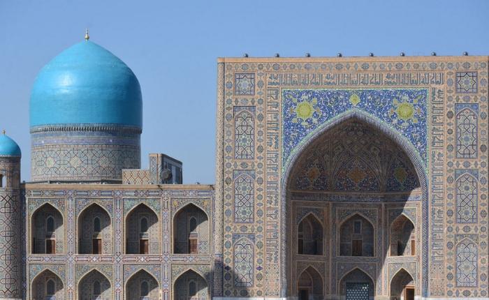 circuit découverte ouzbékistan, circuit ouzbékistan, registan, samarcande, voyage en ouzbékistan, la mosquee tellia qari