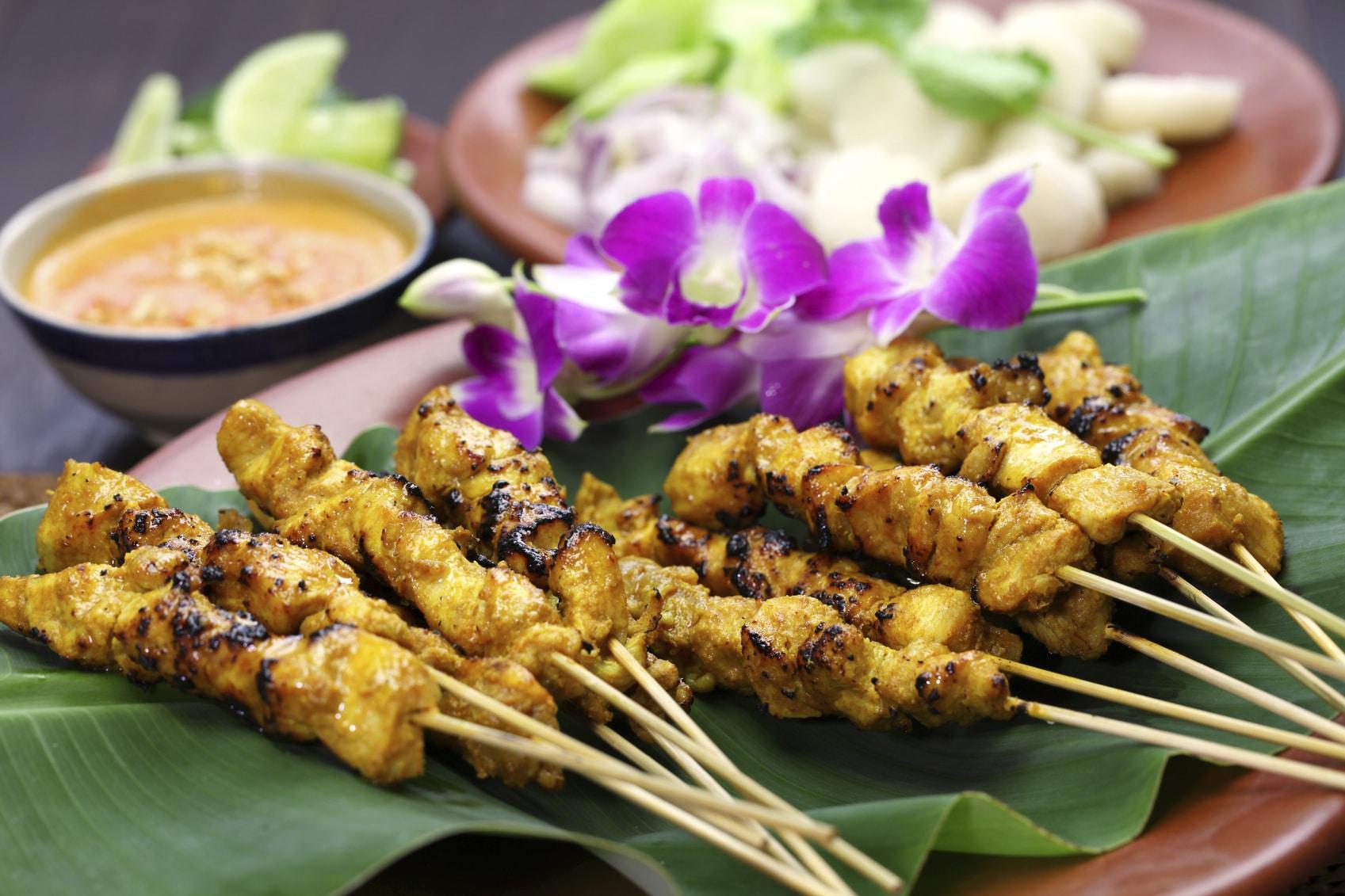 malaisie cuisine brochette satai