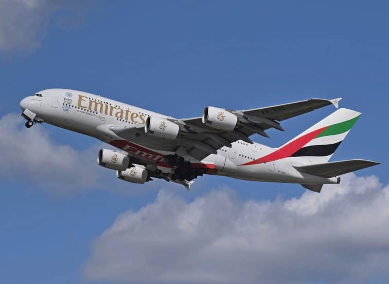 Avion Emirates Airbus A380