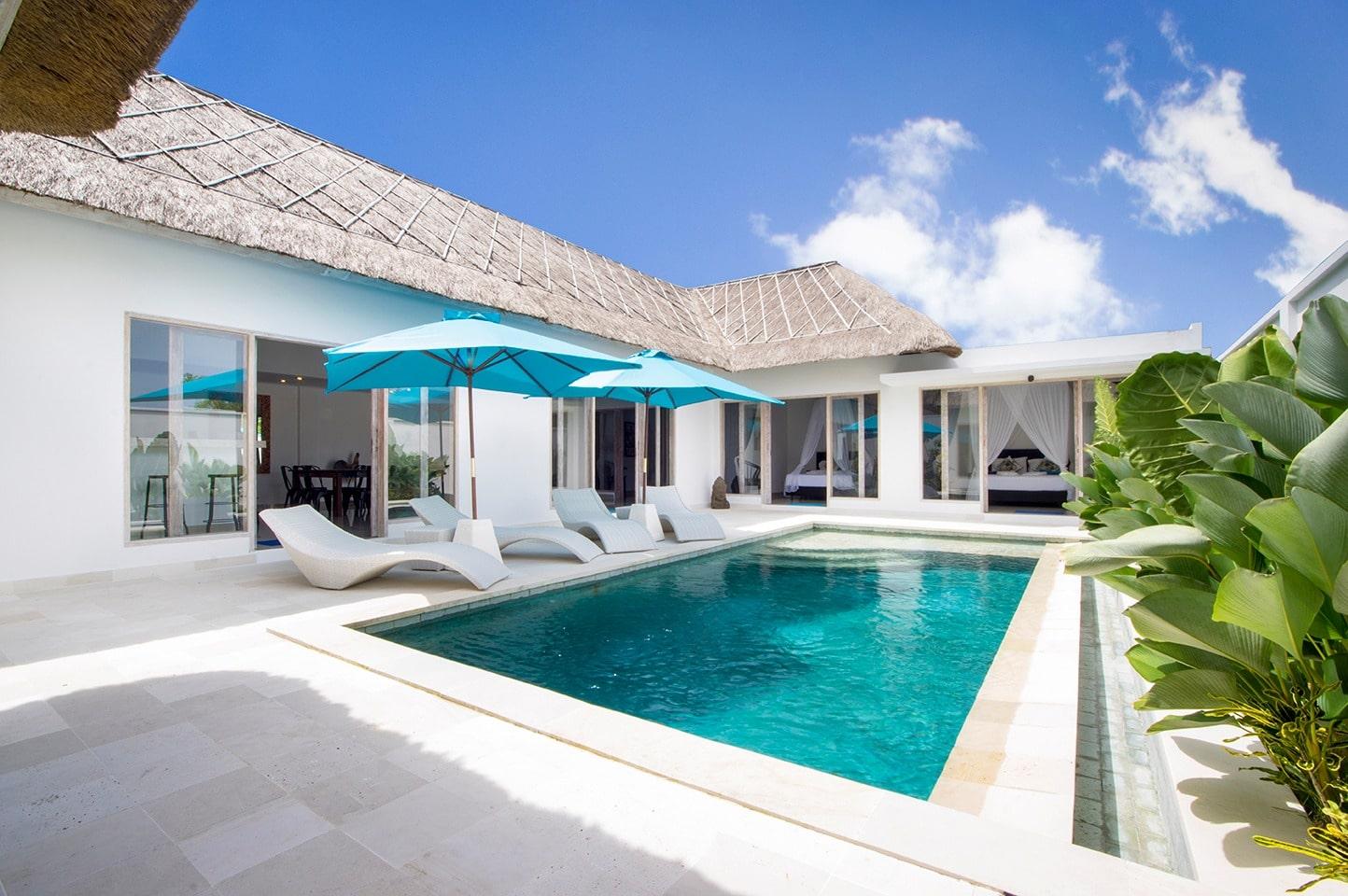 Location de villa pas ch re bali 4 chambres et une - Villa piscine privee ...